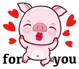 Lovely Piggy Doll sticker #4863081