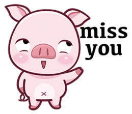 Lovely Piggy Doll sticker #4863087
