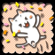 สติ๊กเกอร์ไลน์ white kitty-cat 2