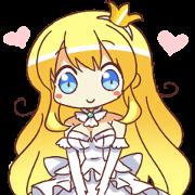 สติ๊กเกอร์ไลน์ Princess Girl Charlotte
