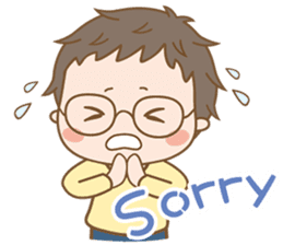Eyeglasses Boy sticker #4869746