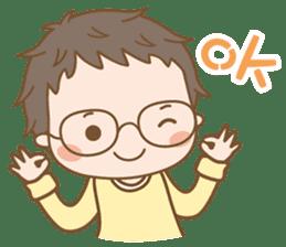 Eyeglasses Boy sticker #4869748