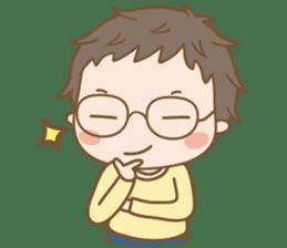 Eyeglasses Boy sticker #4869752