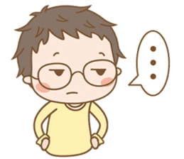 Eyeglasses Boy sticker #4869757
