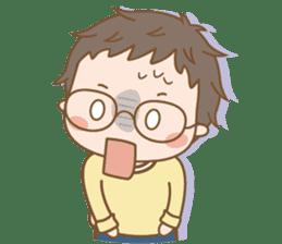 Eyeglasses Boy sticker #4869759