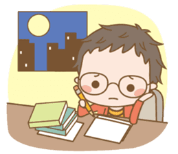 Eyeglasses Boy sticker #4869761