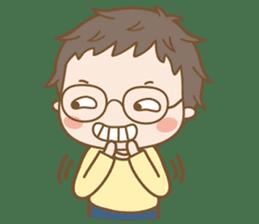 Eyeglasses Boy sticker #4869764