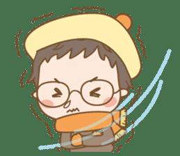 Eyeglasses Boy sticker #4869765