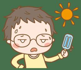Eyeglasses Boy sticker #4869766
