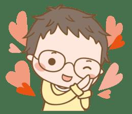 Eyeglasses Boy sticker #4869768