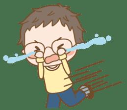 Eyeglasses Boy sticker #4869771