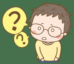 Eyeglasses Boy sticker #4869780