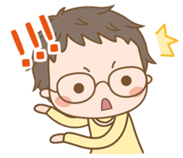 Eyeglasses Boy sticker #4869781