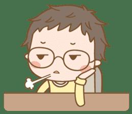 Eyeglasses Boy sticker #4869782