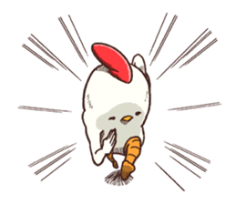 Life of chicken and chicks2 sticker #4873516