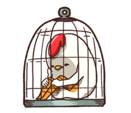 Life of chicken and chicks2 sticker #4873519
