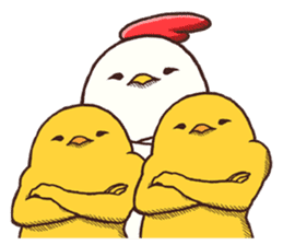 Life of chicken and chicks2 sticker #4873543
