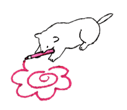 Black-and-white dogs sticker #4887354