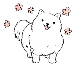 Black-and-white dogs sticker #4887355