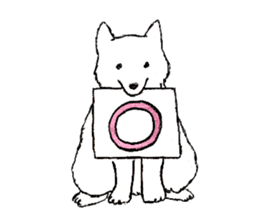 Black-and-white dogs sticker #4887357