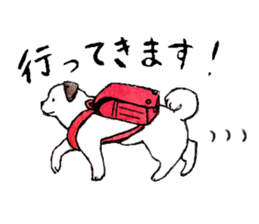 Black-and-white dogs sticker #4887362