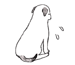 Black-and-white dogs sticker #4887374