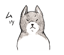 Black-and-white dogs sticker #4887380