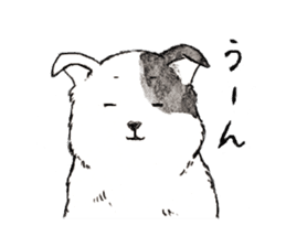 Black-and-white dogs sticker #4887381