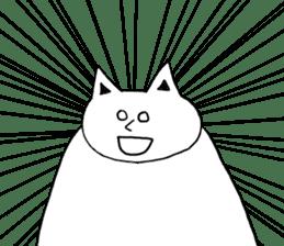 Fatty cat! sticker #4893371