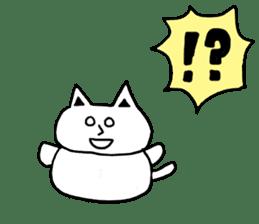 Fatty cat! sticker #4893376