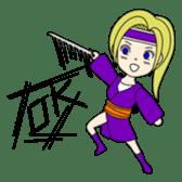 Kawaii Kunoichi sticker #4894177