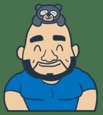 Mr Bear Head sticker #4894296