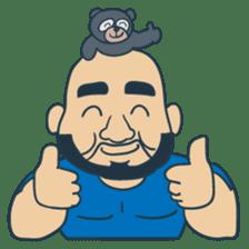Mr Bear Head sticker #4894301