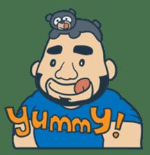 Mr Bear Head sticker #4894303
