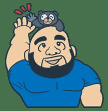 Mr Bear Head sticker #4894307