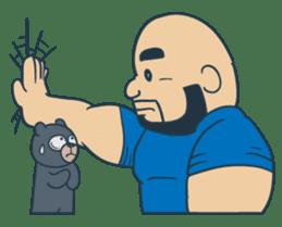 Mr Bear Head sticker #4894315
