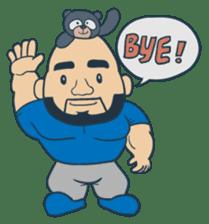 Mr Bear Head sticker #4894320