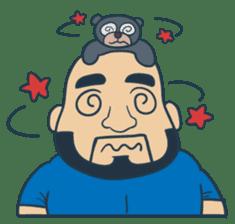 Mr Bear Head sticker #4894326