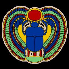 Stickers like Egypt mural (Japanese)