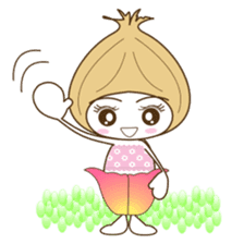 Fairies of the onion.The girl version. sticker #4906960