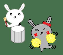 Percussion rabbit sticker #4907586