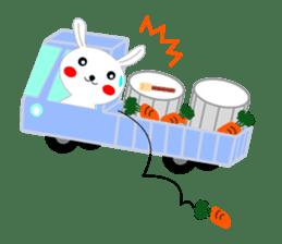 Percussion rabbit sticker #4907588