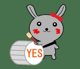 Percussion rabbit sticker #4907593