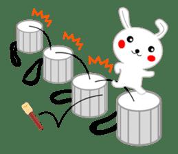 Percussion rabbit sticker #4907596
