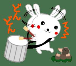 Percussion rabbit sticker #4907598