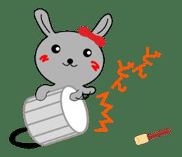 Percussion rabbit sticker #4907604