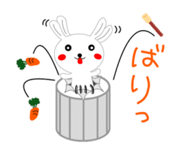 Percussion rabbit sticker #4907605