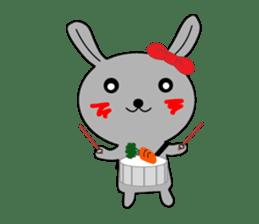 Percussion rabbit sticker #4907610