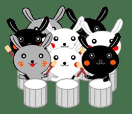 Percussion rabbit sticker #4907612