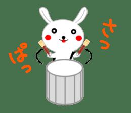 Percussion rabbit sticker #4907614